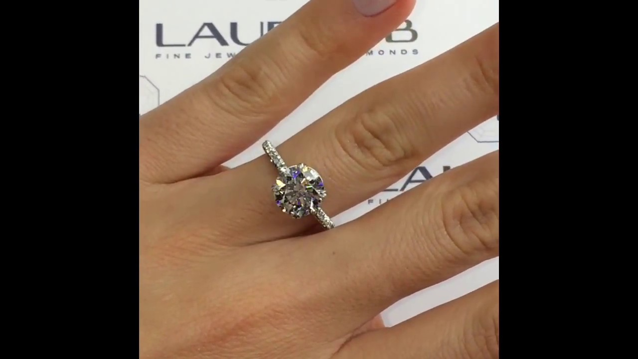 2 carat Round Diamond Engagement Ring - YouTube