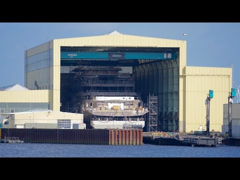 4K | Launch of NEW Mega 100m+ Yacht hull - Project SHU