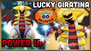 LUCKY GIRATINA POWER UP IN POKEMON GO | HALLOWEEN SPECIAL | SHEDINJA DISCUSSION & ABILITIES