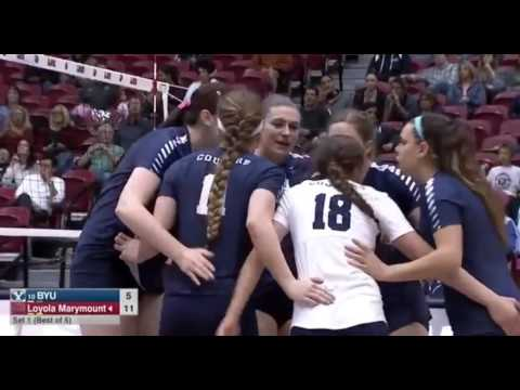 BYU vs Loyola volleyball 2016 Championship West Coast Conference
