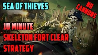 Sea of Thieves - 10 Minute Skeleton Fort Clear Method (2-4 Players)