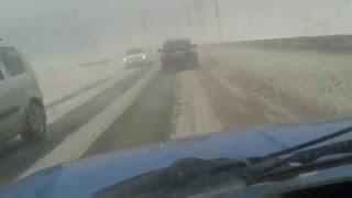 Императорский мост 02.02.15 страшная вьюга Ульяновск
