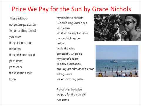 Price We Pay for the Sun read by Grace Nichols
