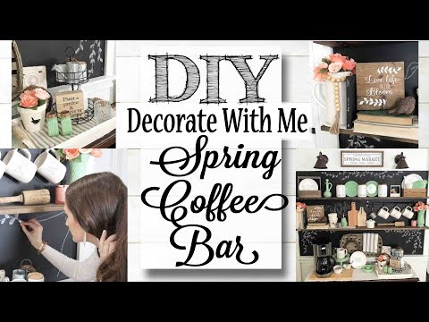 DIY Vintage Spring Coffee Bar | Decorate With Me!