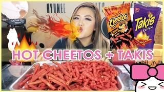 HOT CHEETOS and TAKIS CHALLENGE!!