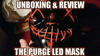 THE PURGE LIGHT UP LED MASK (UNBOXING AND REVIEW!)