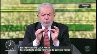 Entrevista de Lula ao SBT repercute no meio político - SBT Brasil (27/04/17)