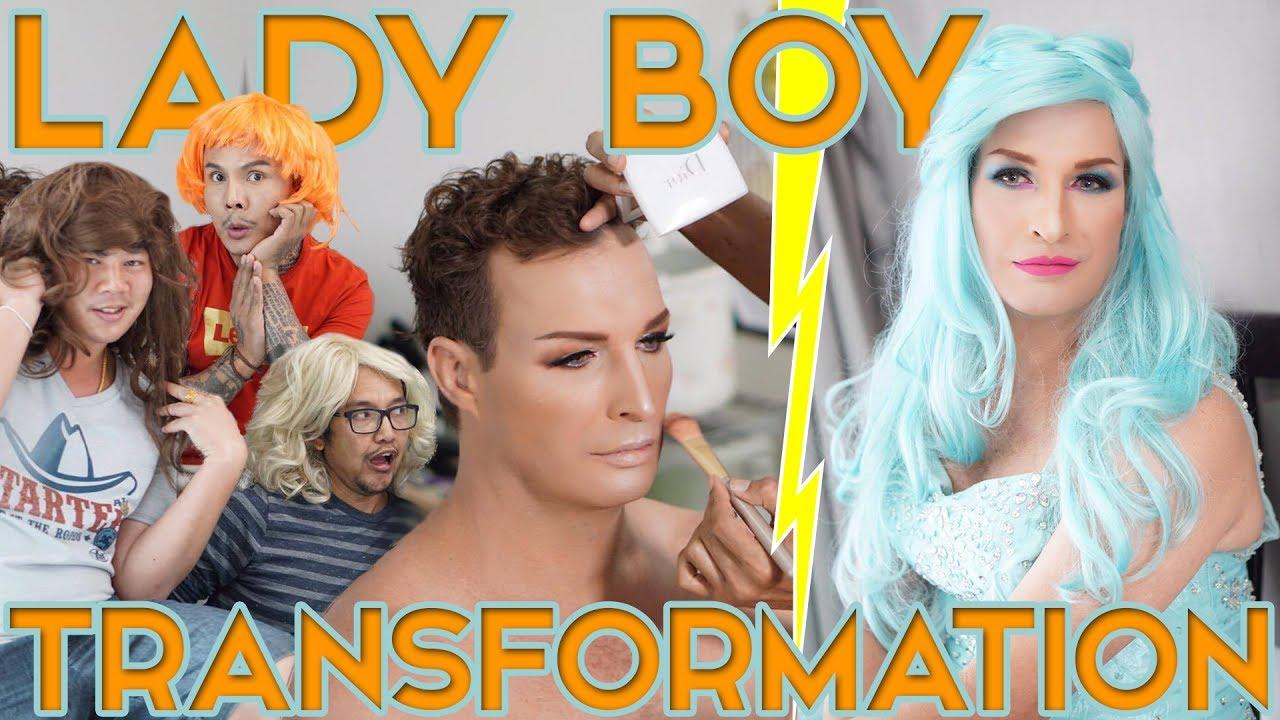 AMAZING LADY BOY TRANSFORMATION IN THAILAND - YouTube