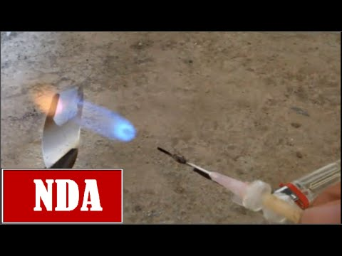 How to make a mini Gas-jet metal cutting (2500ºC)