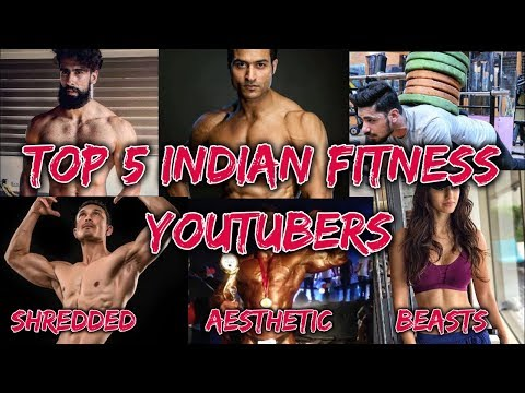 Top 5 Indian Fitness Youtuber | Shredded Aesthetic Beasts