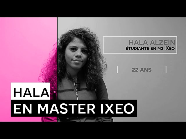 Témoignage Formation - Hala ALZEIN - étudiante en Master iXeo