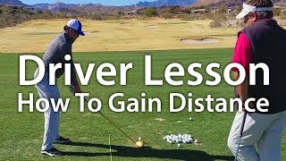 Golf Driver Lesson - How To Gain Distance