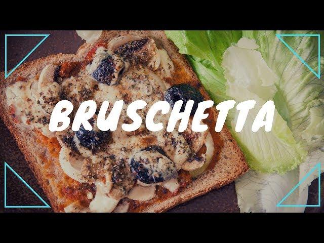 Bruschetta végane au pain de mie