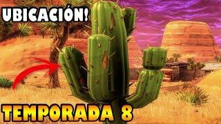 Destruye cactus en el desierto en FORTNITE, SEMANA 3, TEMPORADA 8