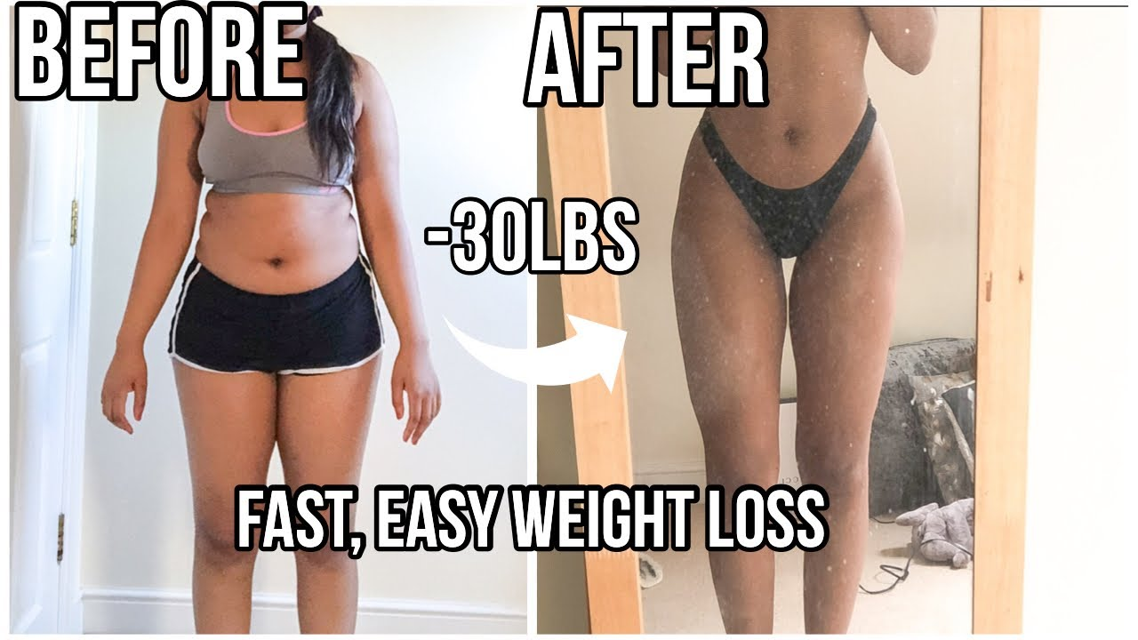 HOW I LOST 30 POUNDS IN 3 MONTHS | FAST Weight loss Tips (with pictures)
