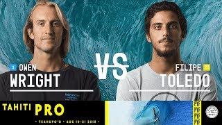 Owen Wright vs. Filipe Toledo - Semifinals, Heat 1 - Tahiti Pro Teahupo