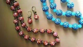 Beads. Бусы из полимерной глины
