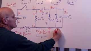 RC Circuit Hard HẄ Problem - 4 resistors 2 capacitors