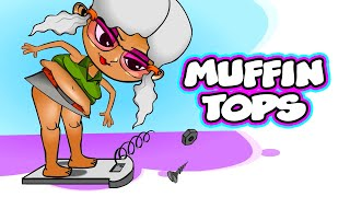 Funny rap - MUFFIN TOPS - hiphop music video parody by comedy rapper Greedy Graffiti