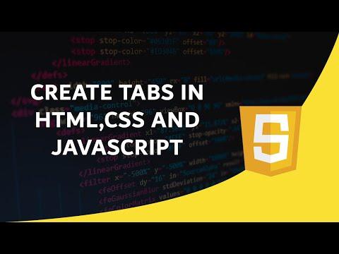 CREATE TABS USING HTML,CSS AND JAVASCRIPT