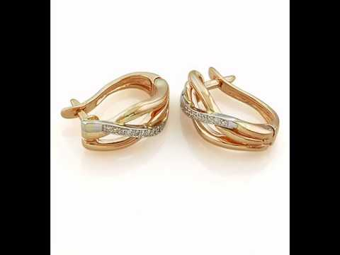серьги кольцами золотые фото