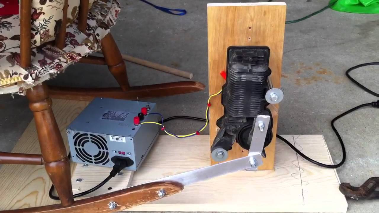 Animated rocking chair youtube for Electric motors for halloween props