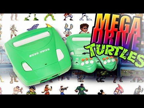 Игры на Sega и обзор приставки Mega Drive Turtles (69 встроенных игр)