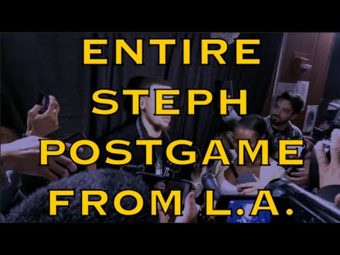 Entire STEPH CURRY postgame from LA: DeMarcus