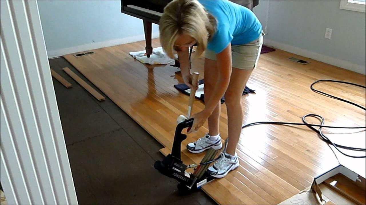 Installing Hardwood Floors Youtube