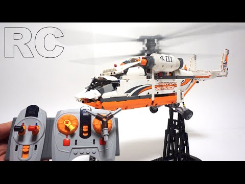 lego technic 42052 full rc motorized heavy lift helicopter by youtube. Black Bedroom Furniture Sets. Home Design Ideas