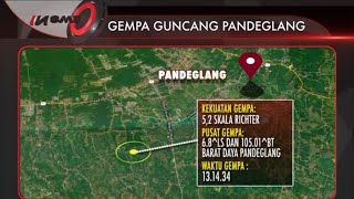 Gempa Pandeglang 5,2 SR Sempat Terasa Hingga Ke Ibu Kota - News Malam 04/11
