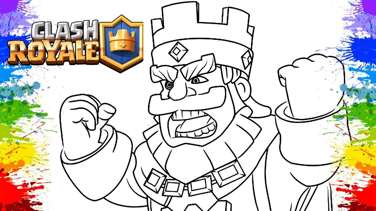 Desenho Para Colorir Clash Royale Gameplay Rei E Principe Video