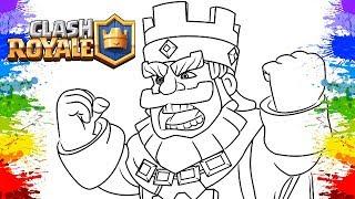 Desenho Para Colorir Clash Royale Gameplay Rei E Principe Video