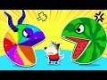 🔴 LIVE | Wolfoo is Attacked by Crazy Rainbow Pacman and Pacman Watermalon