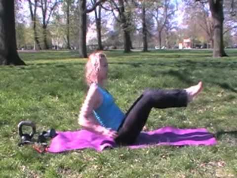 Tummy exercise female -Scissor kicks -Abs workout