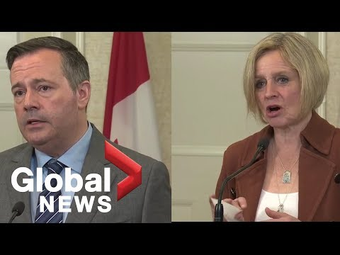 Alberta election: Jason Kenney, Rachel Notley hold joint press conference