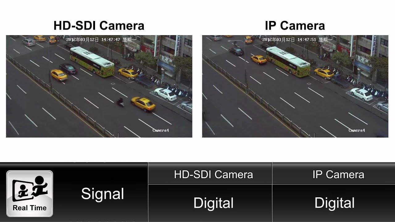 Real Time Comparison Demo Video Hd Sdi Camera Vs Ip