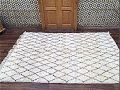 100% Wool Authentic Berber Carpet Rug 157 x 229 cm