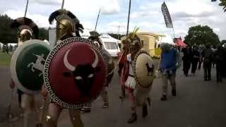 Military Odyssey 2015 - Ancient Greek March Past with Rock n Roll Music!