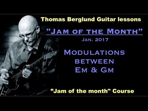 """""""Jam of the month"""" - Jan.2017  - Tips on phrasing & scales - Guitar lesson"""