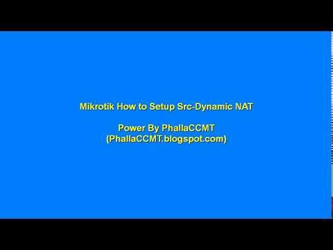 Mikrotik How to Setup Src-NAT with Dynamic ip address