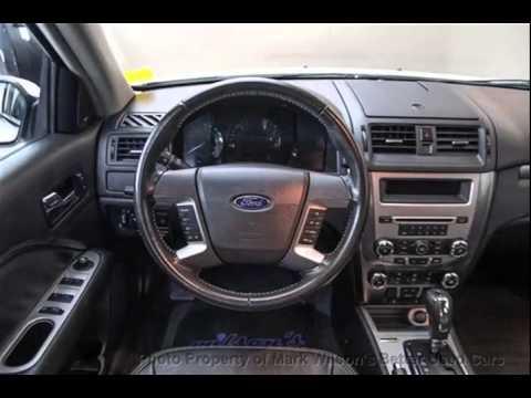 Mark Wilsons Better Used Cars  Ford Fusion Sel Awd V Sunroof Leather Sync Spoiler Sedan