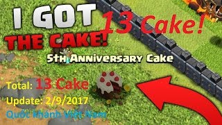Update 2/9/2017: 13 Birthday Cake- Clash of Clans 5th Anniversary Cake
