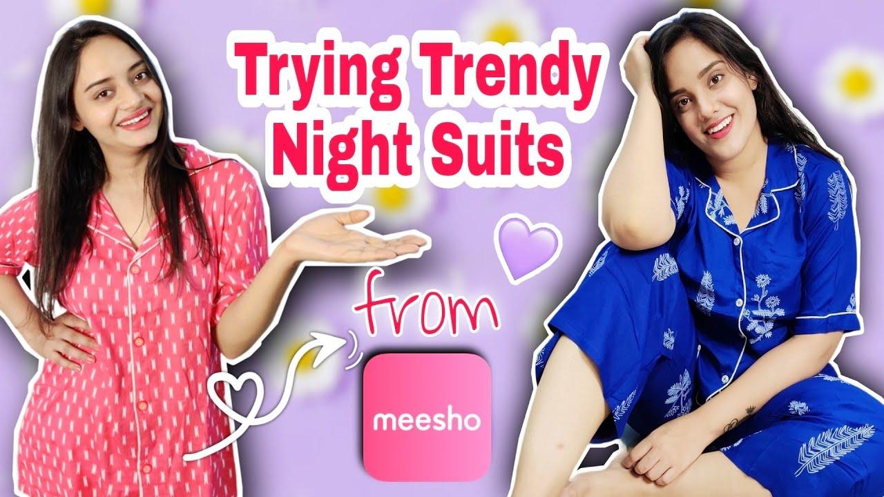 *MEESHO HAUL* | MEESHO Cute NIGHTSUITS HAUL |*trendy*| Meesho Affordable Night dresses / Nightsuits