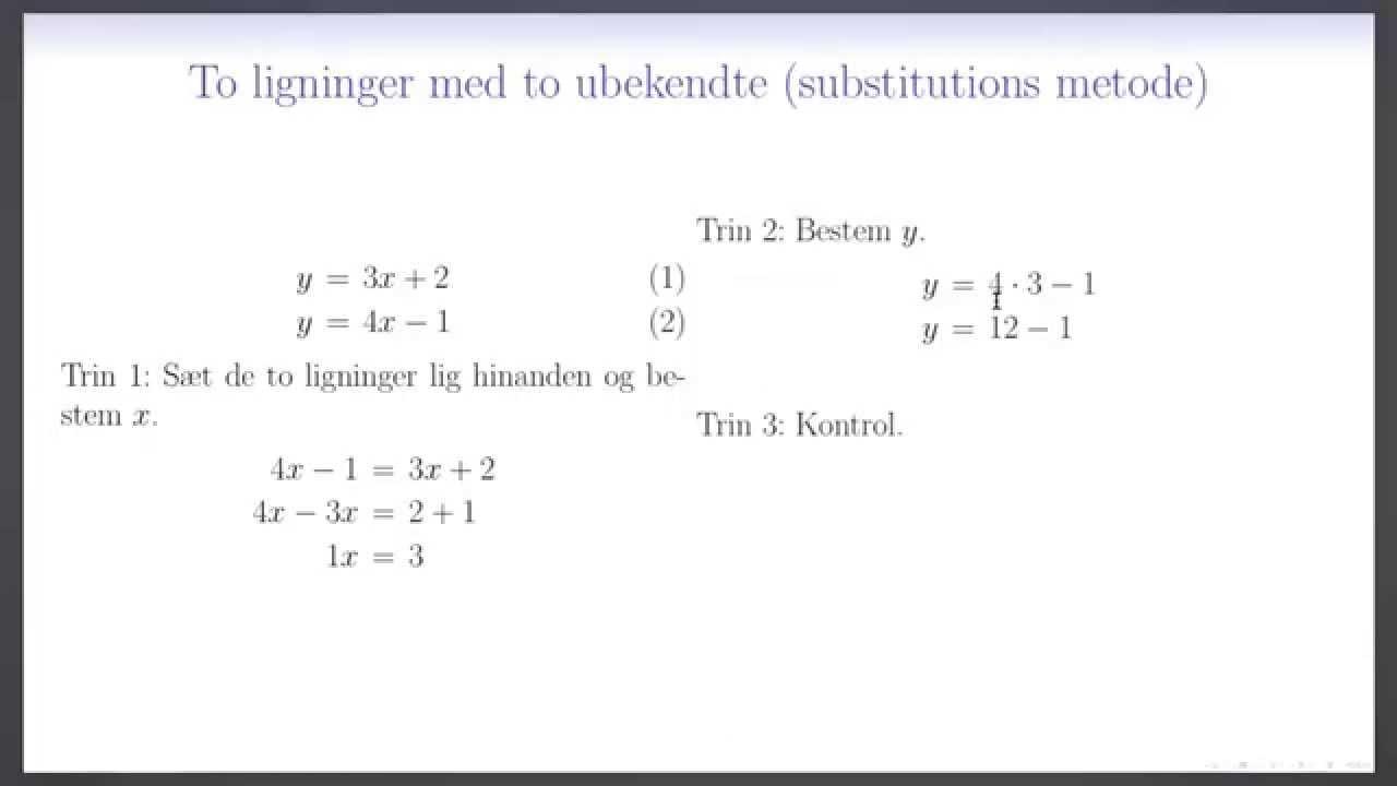 4 ligninger med 4 ubekendte