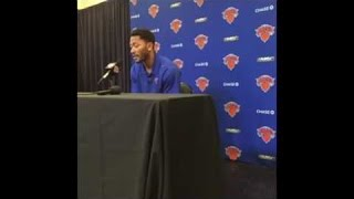 Derrick Rose cusses during first press conference: That S#it hurt !