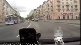 Авария на проспекте Ленина в Мурманске 12 июня 2015 г.(На площади