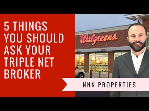 5 Things You Should Ask Your 1031 Triple Net NNN Broker
