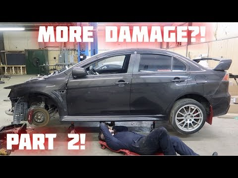 Rebuilding a Wrecked 2014 Lancer Evolution GSR Part 2