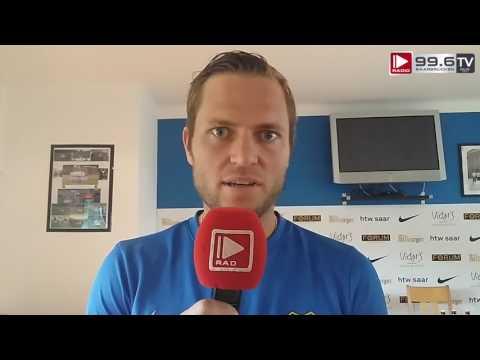 FCS Trainer Lottner und Spieler Dausch vor dem Pokalhit gegen Berlin